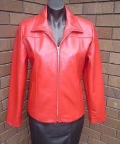 232b Female Leather Dress Jacket